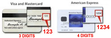 Credit Card verification Number