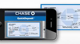 Chase Bank quick deposit with smartphone